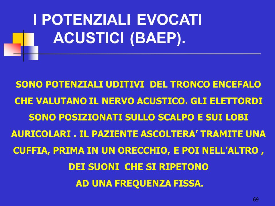 I POTENZIALI EVOCATI ACUSTICI (BAEP).