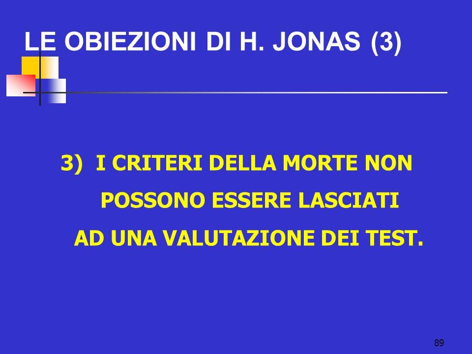 LE OBIEZIONI DI H. JONAS (3)