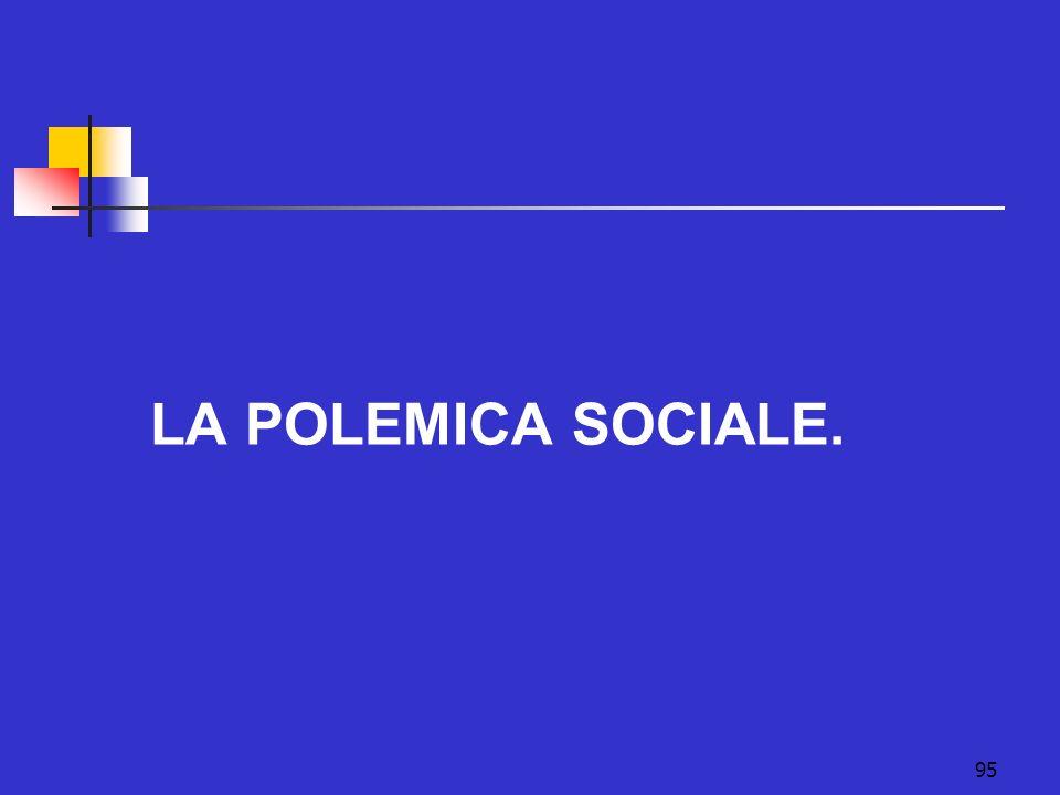 LA POLEMICA SOCIALE.