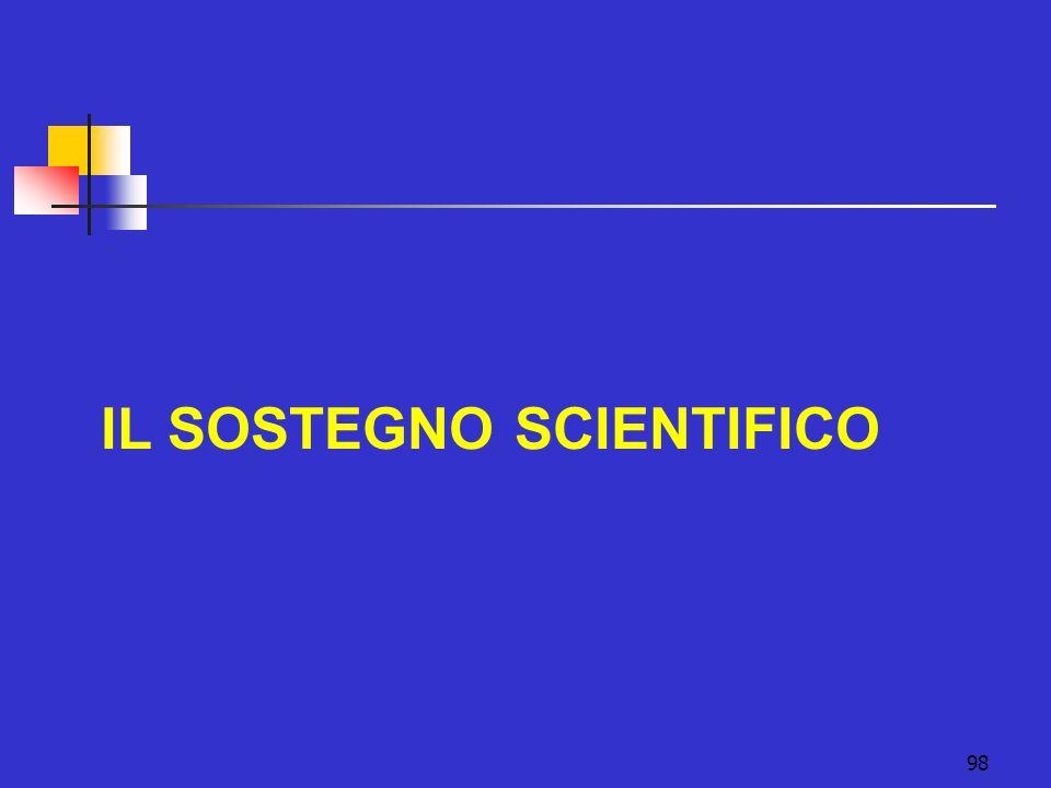 IL SOSTEGNO SCIENTIFICO