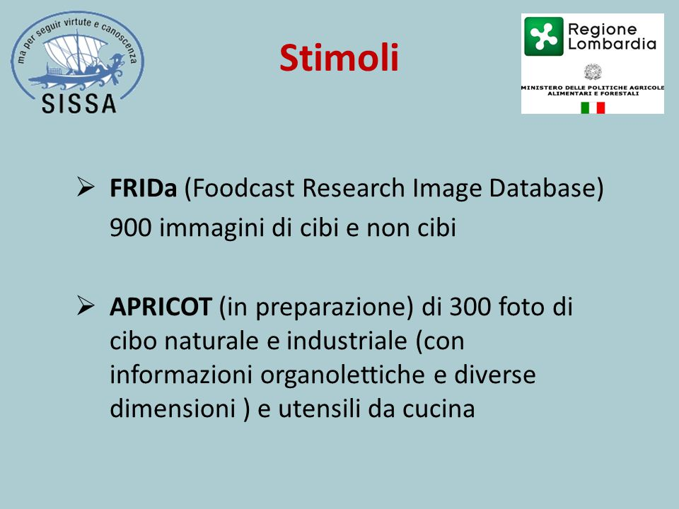 Stimoli FRIDa (Foodcast Research Image Database)