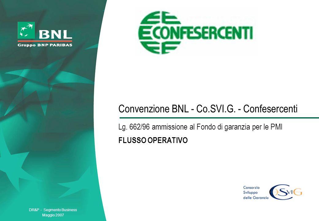 Convenzione BNL - Co. SVI. G. - Confesercenti Lg