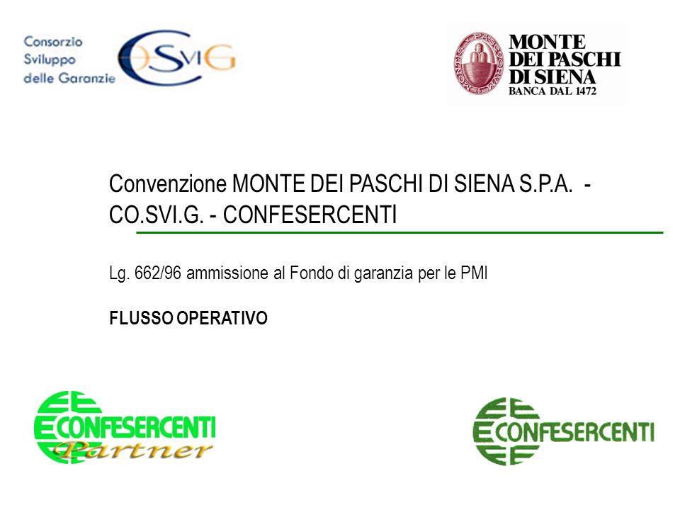 Convenzione MONTE DEI PASCHI DI SIENA S. P. A. - CO. SVI. G
