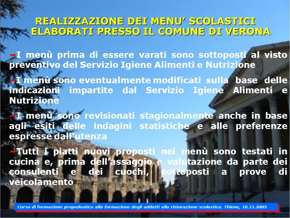 esperienza del comune di verona nella ristorazione scolastica ... - Corso Cucina Verona