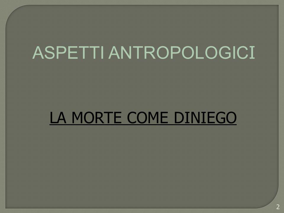 Aspetti antropologici