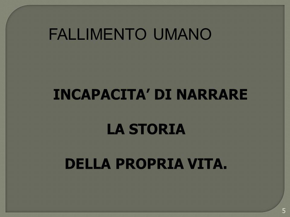 INCAPACITA' DI NARRARE