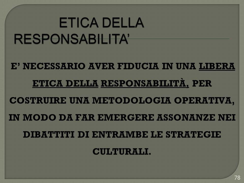 ETICA DELLA RESPONSABILITA'