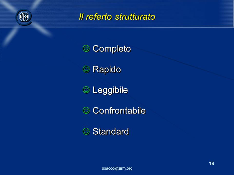 Il referto strutturato