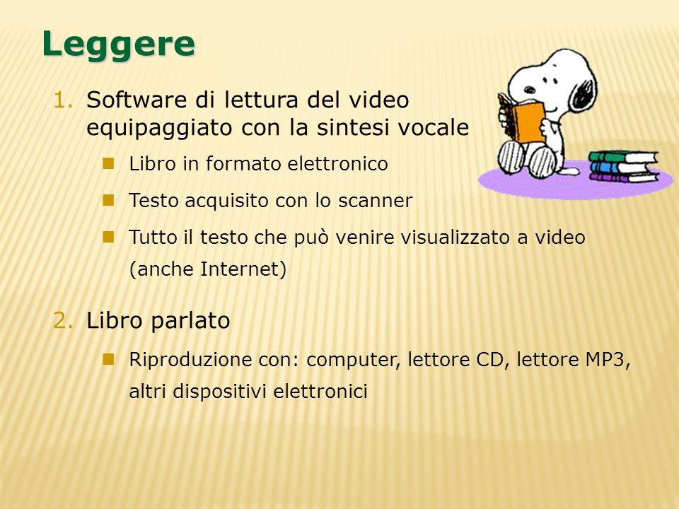 LeggereSoftware di lettura del video equipaggiato con la sintesi vocale. Libro in formato elettronico.