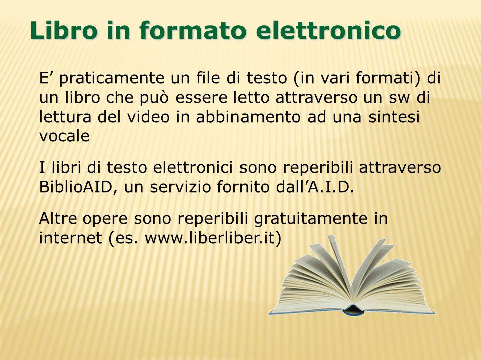 Libro in formato elettronico