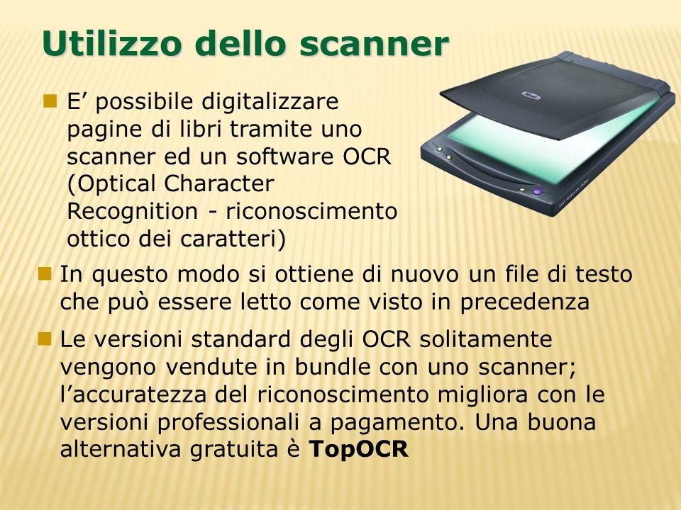 Utilizzo dello scanner