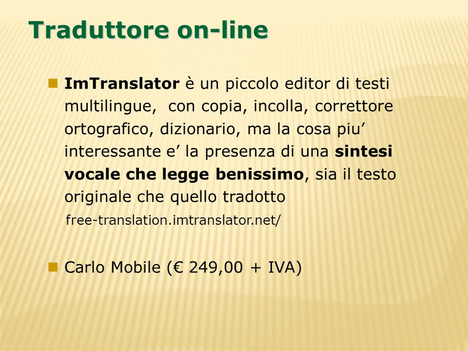 Traduttore on-line