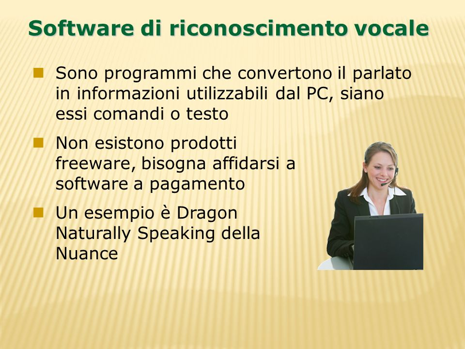 Software di riconoscimento vocale