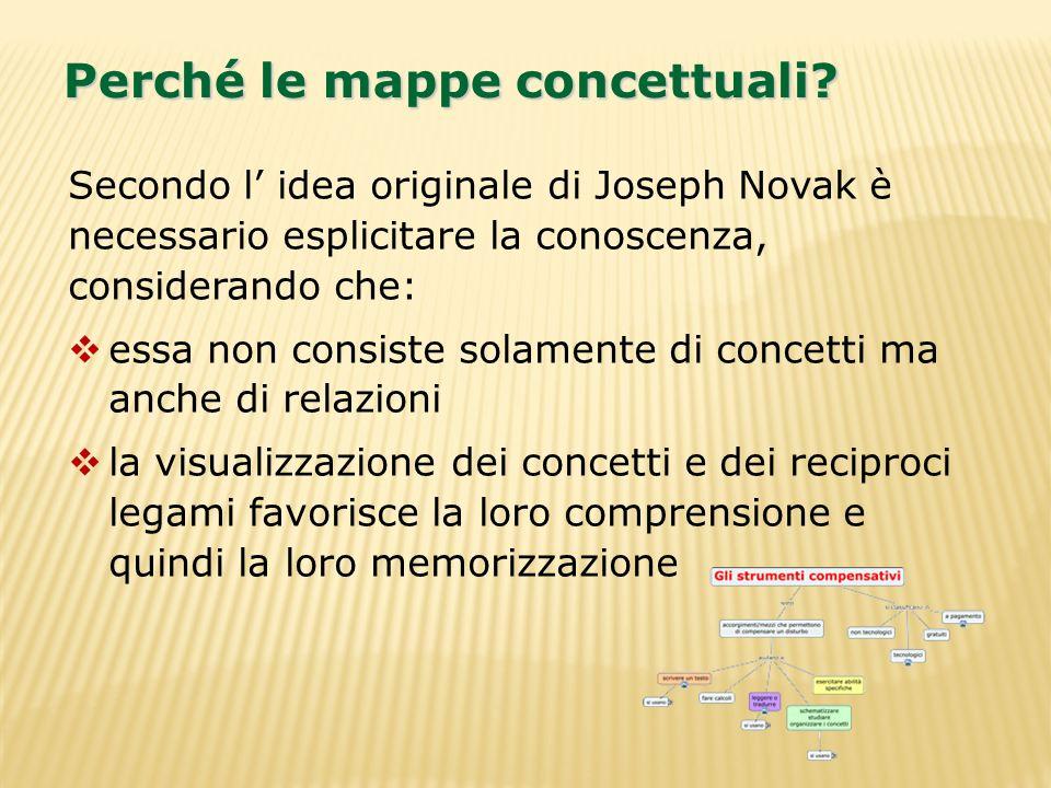 Perché le mappe concettuali
