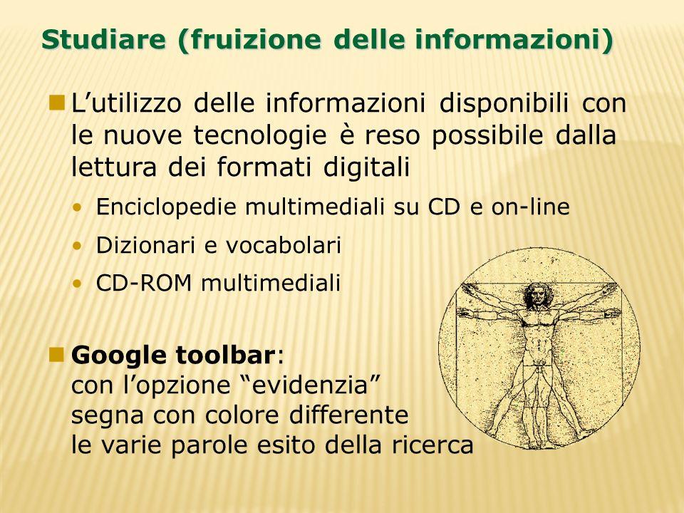 Studiare (fruizione delle informazioni)