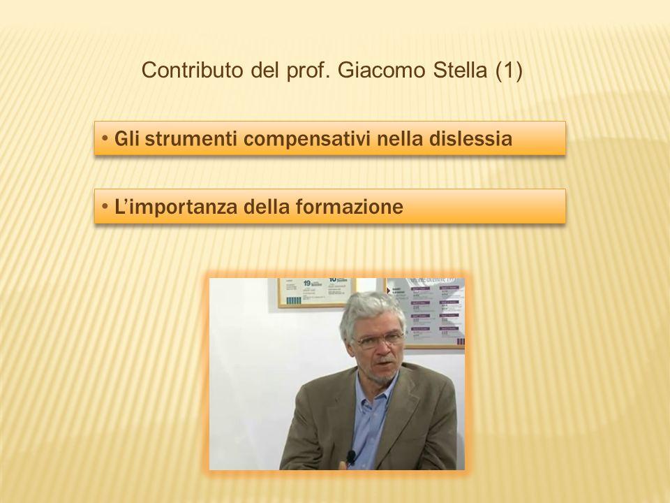 Contributo del prof. Giacomo Stella (1)