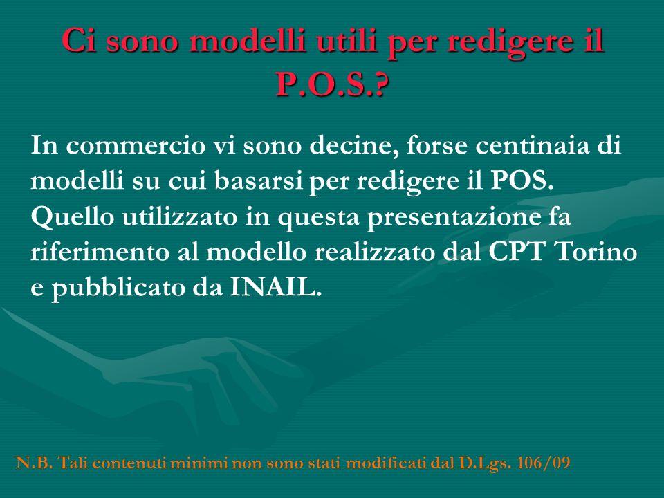 Ci sono modelli utili per redigere il P.O.S.