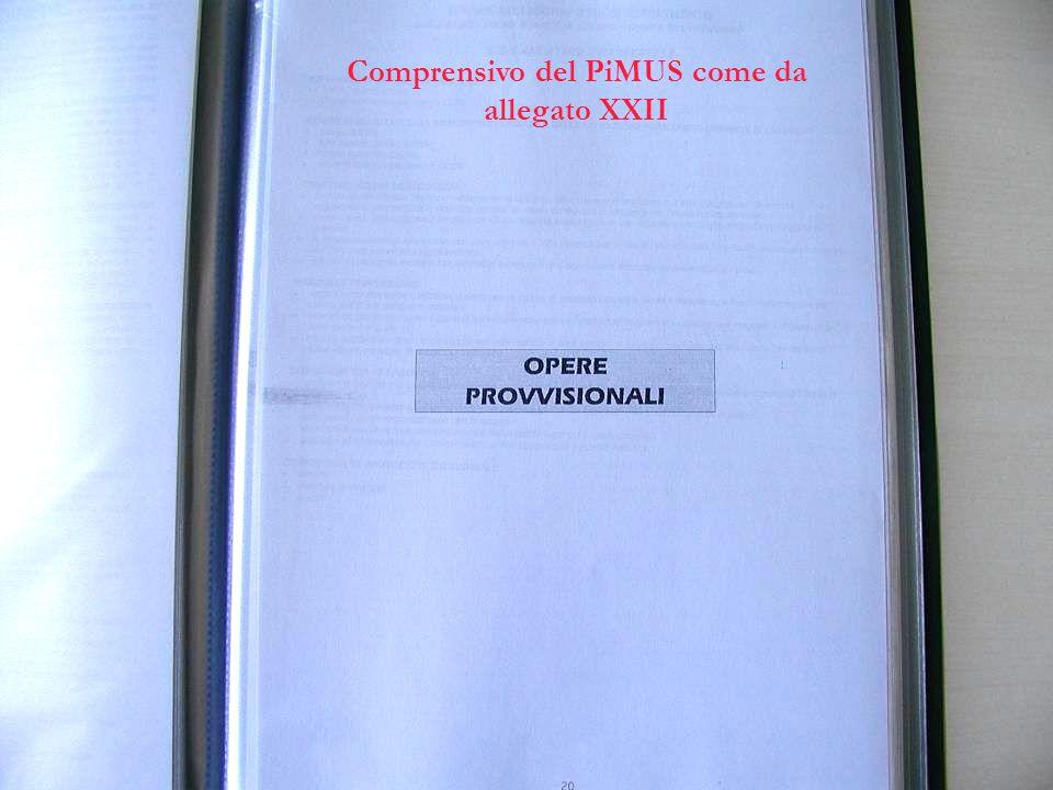 Comprensivo del PiMUS come da allegato XXII
