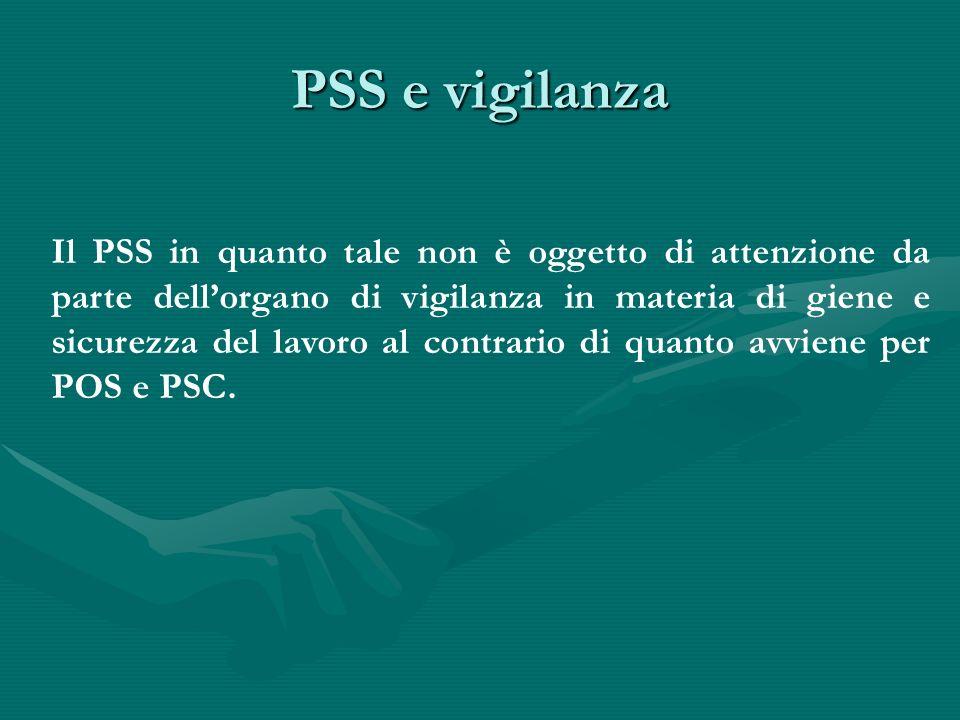 PSS e vigilanza