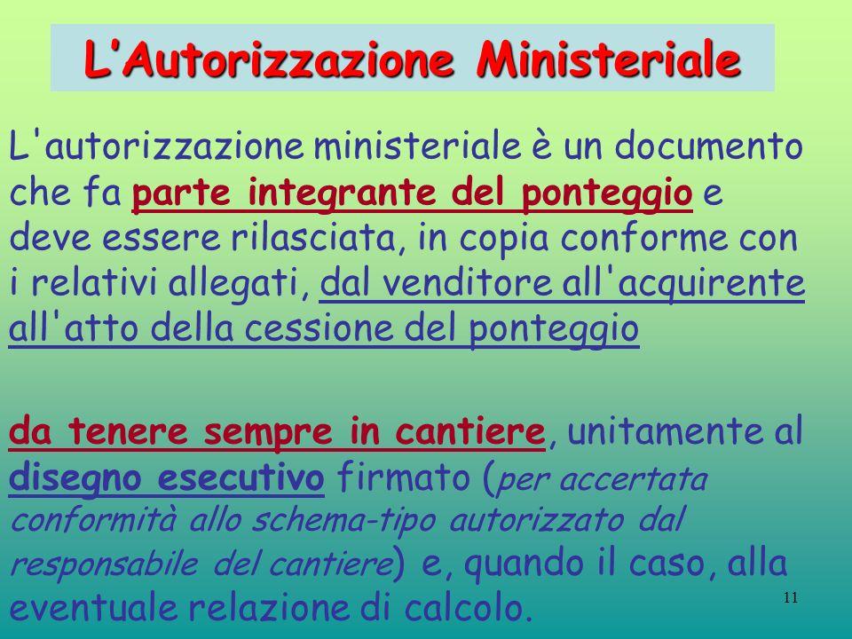 L'Autorizzazione Ministeriale
