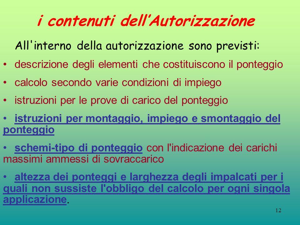 i contenuti dell'Autorizzazione