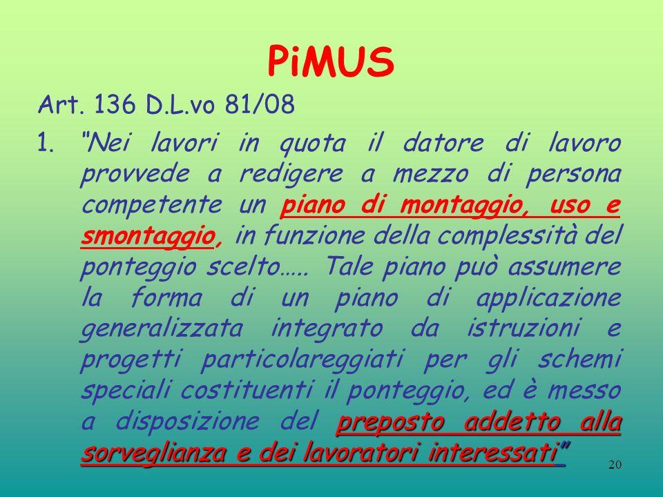 PiMUS Art. 136 D.L.vo 81/08.