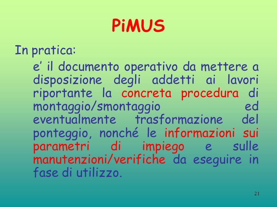 PiMUS In pratica: