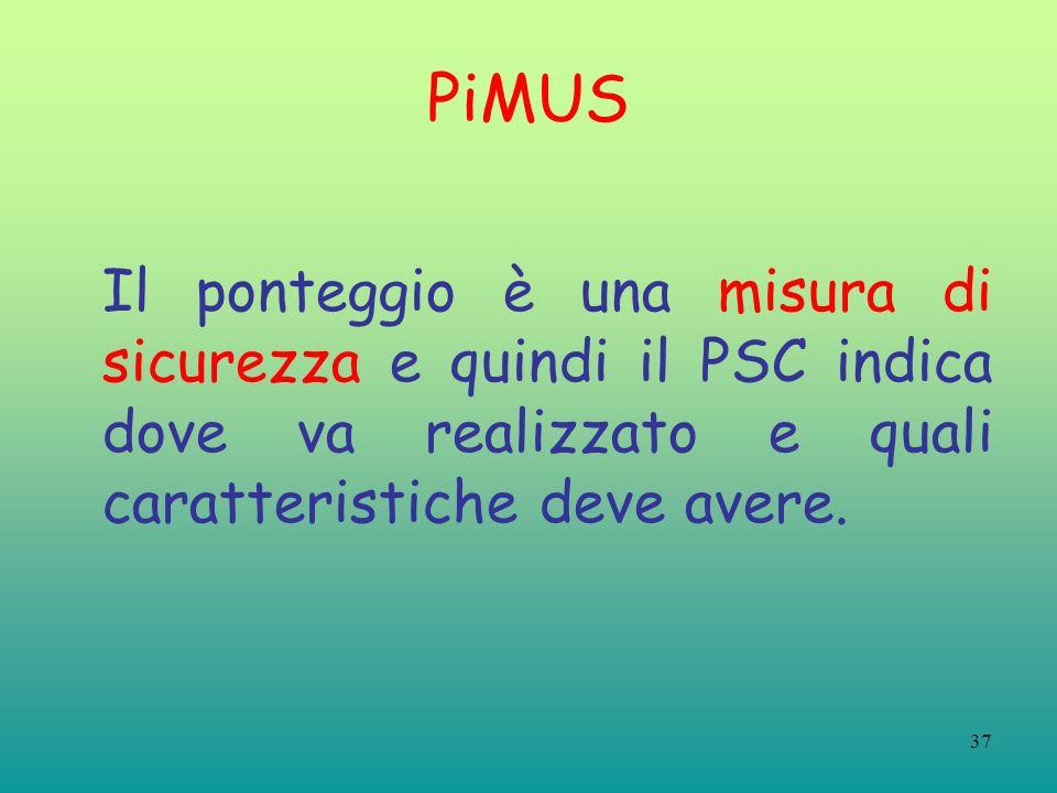 PiMUS Il ponteggio è una misura di sicurezza e quindi il PSC indica dove va realizzato e quali caratteristiche deve avere.