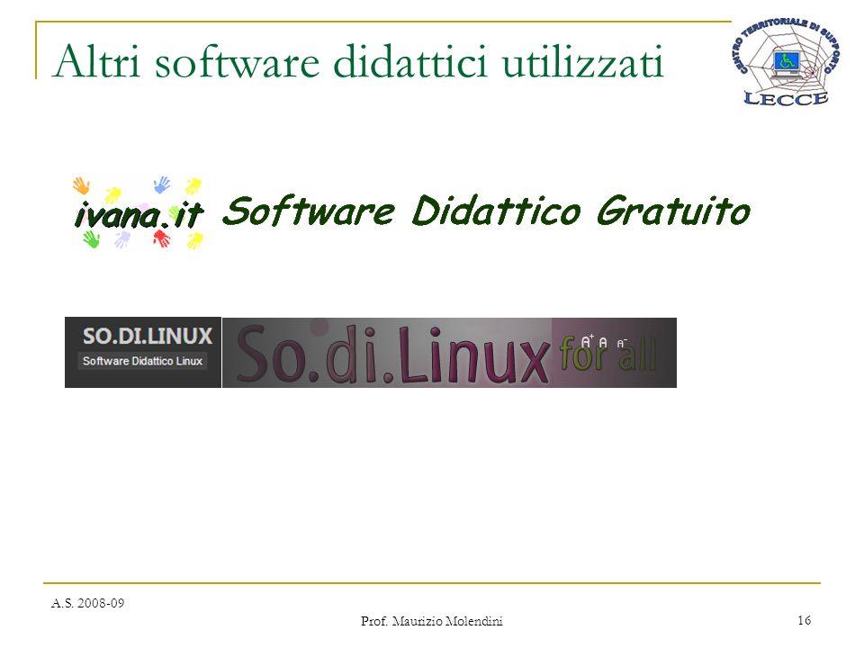Altri software didattici utilizzati