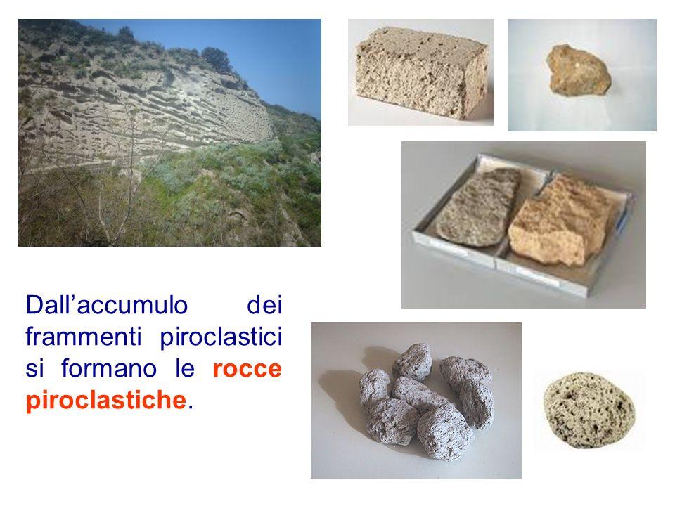 Dall'accumulo dei frammenti piroclastici si formano le rocce piroclastiche.