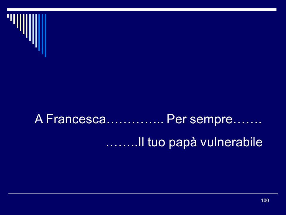 A Francesca………….. Per sempre…….