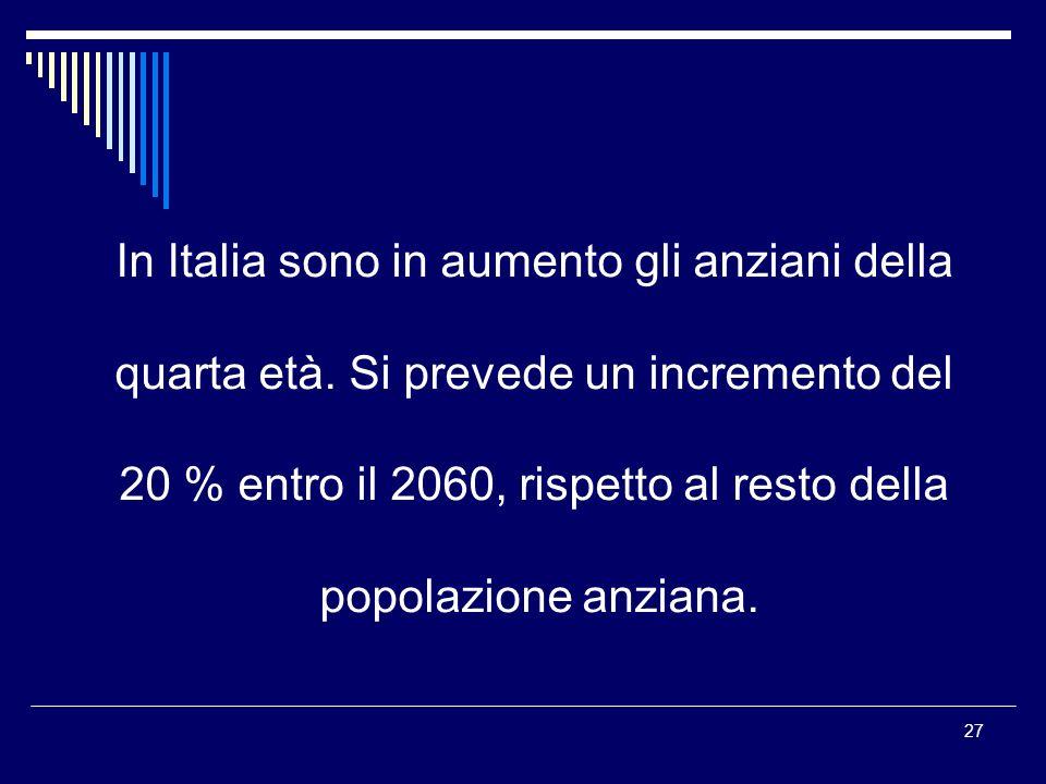 In Italia sono in aumento gli anziani della
