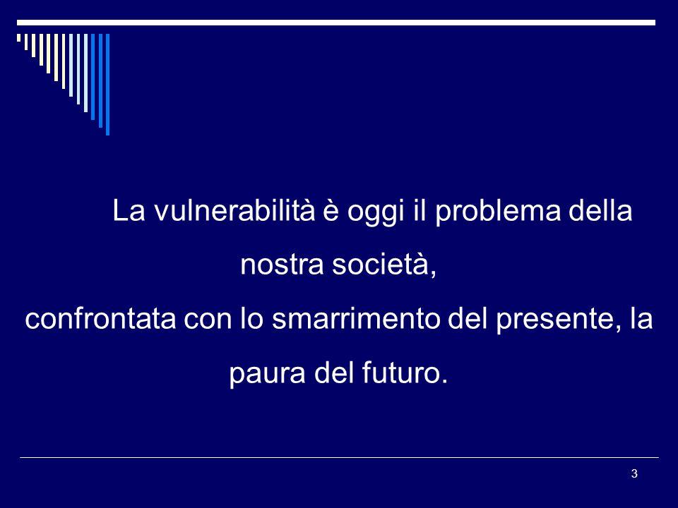 La vulnerabilità è oggi il problema della nostra società,