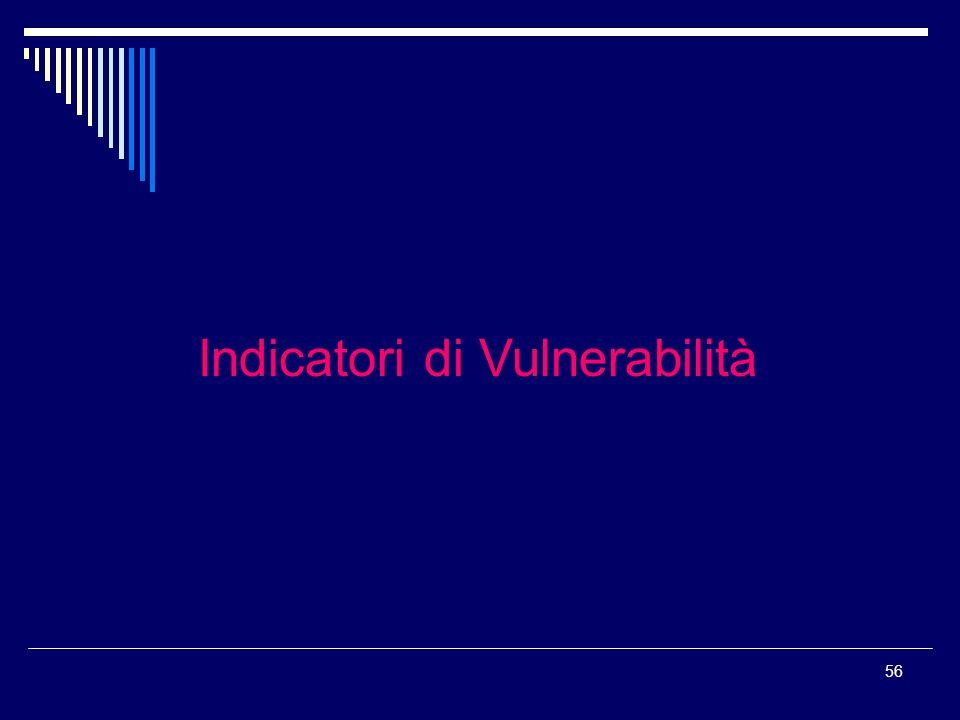Indicatori di Vulnerabilità