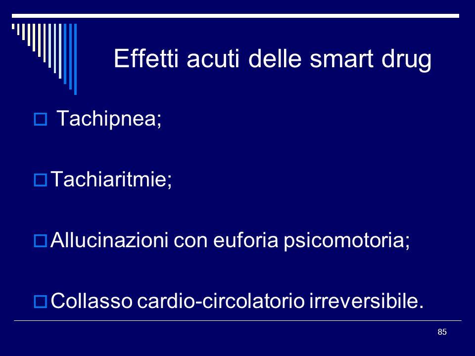 Effetti acuti delle smart drug