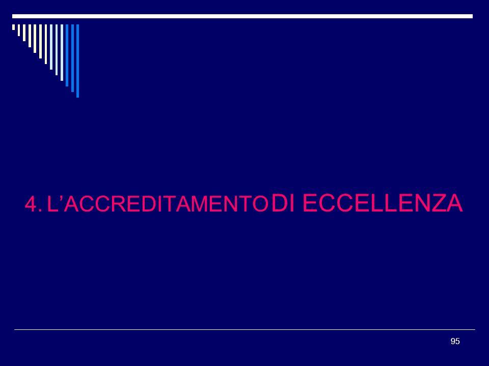 4. L'ACCREDITAMENTO DI ECCELLENZA