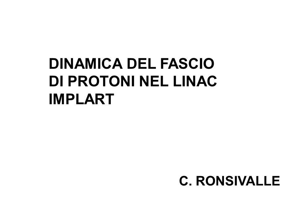DINAMICA DEL FASCIO DI PROTONI NEL LINAC IMPLART