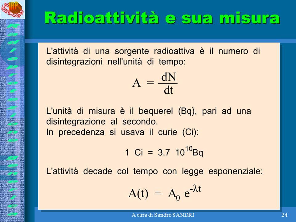 Radioattività e sua misura