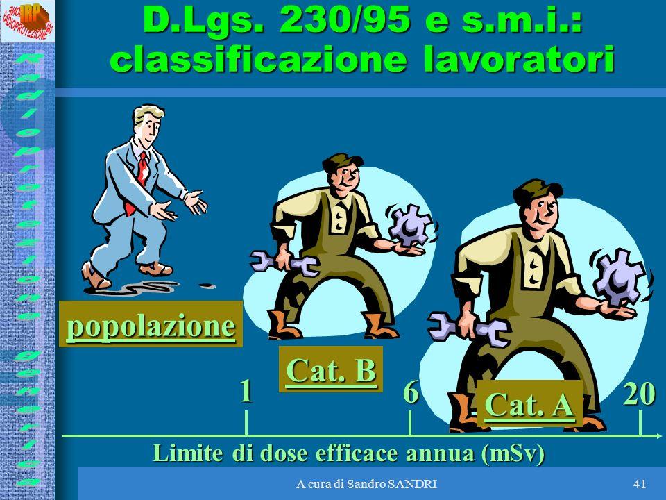 D.Lgs. 230/95 e s.m.i.: classificazione lavoratori