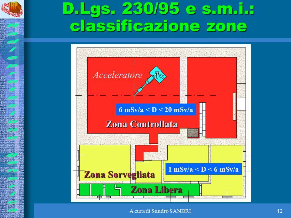 D.Lgs. 230/95 e s.m.i.: classificazione zone