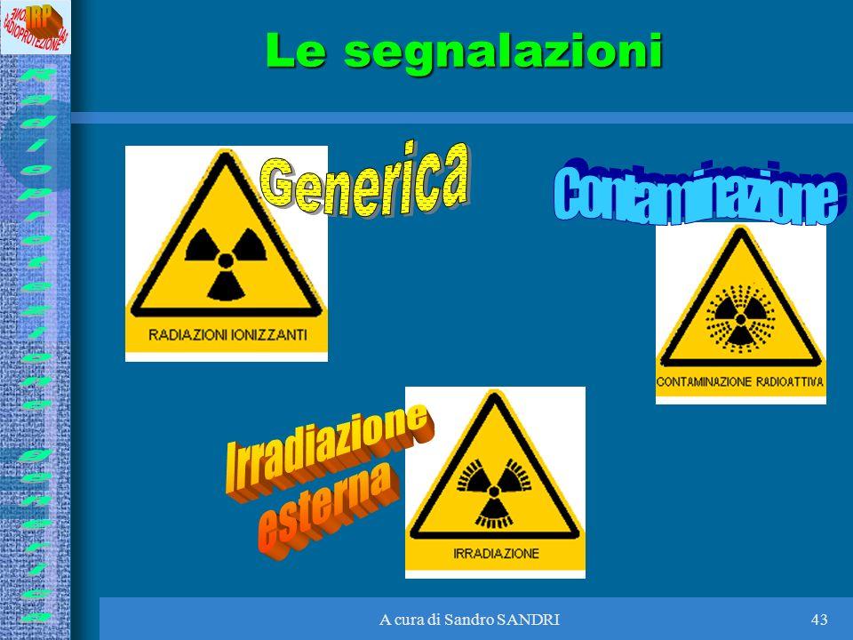 Le segnalazioni Generica Contaminazione Irradiazione esterna