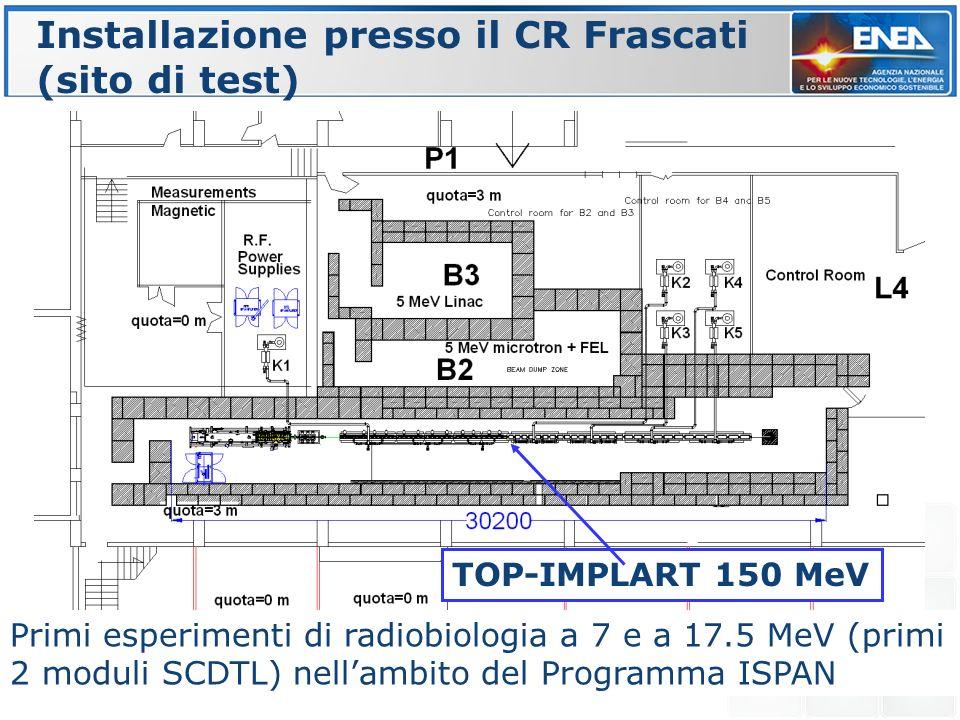 Installazione presso il CR Frascati (sito di test)