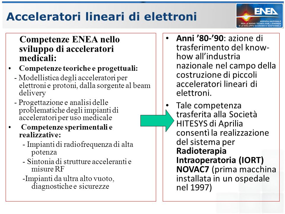Acceleratori lineari di elettroni