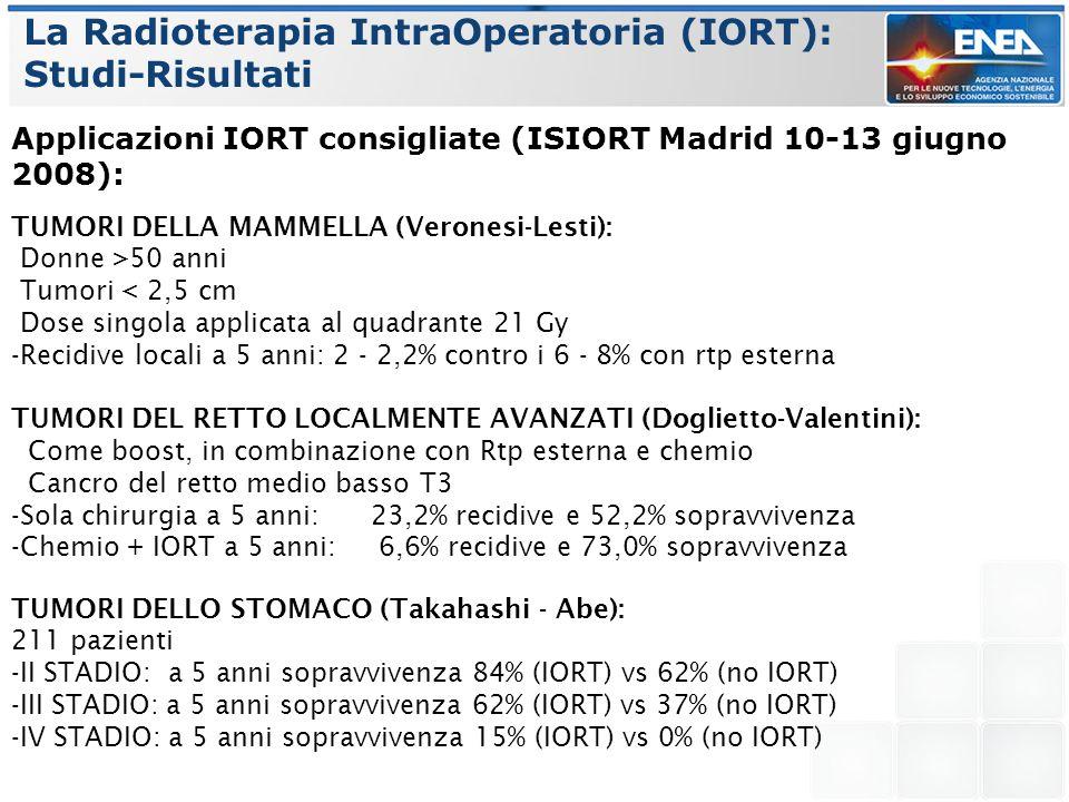 La Radioterapia IntraOperatoria (IORT): Studi-Risultati