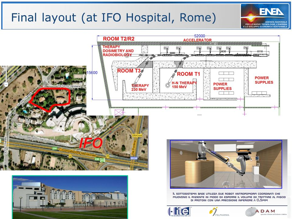 Final layout (at IFO Hospital, Rome)