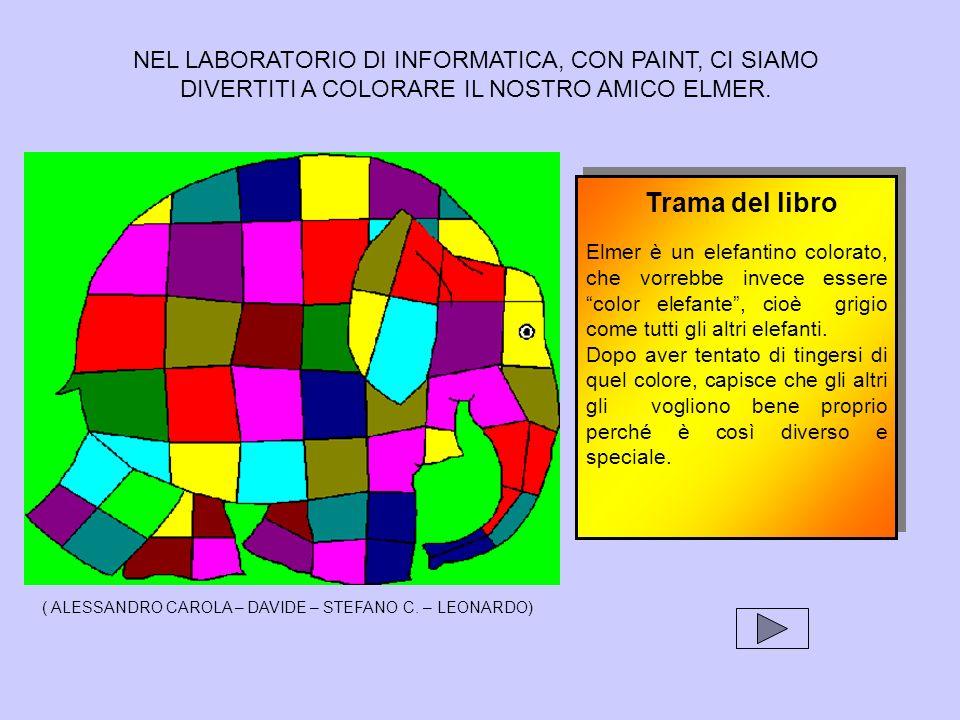 Trama del libro NEL LABORATORIO DI INFORMATICA, CON PAINT, CI SIAMO
