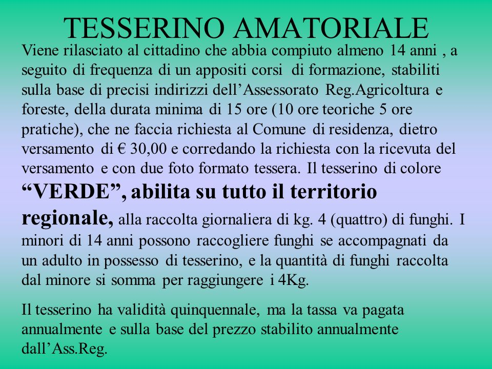 TESSERINO AMATORIALE
