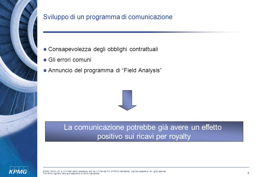 Sviluppo di un programma di comunicazione