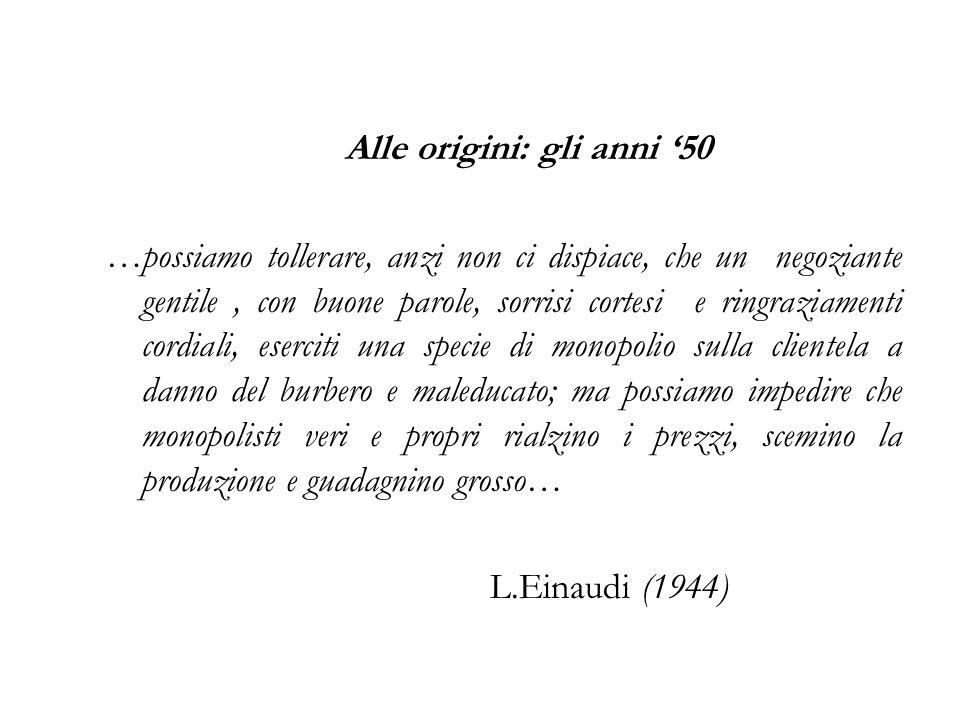 Alle origini: gli anni '50