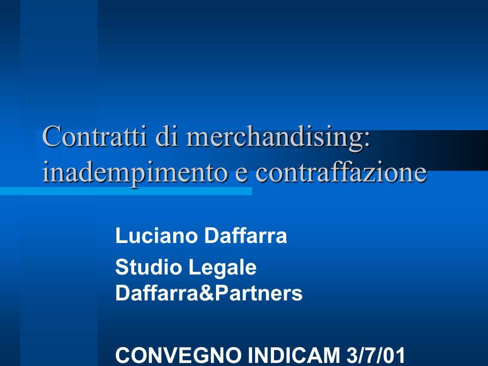 Contratti di merchandising: inadempimento e contraffazione